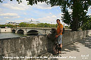 Looking over the Seine river, Paris